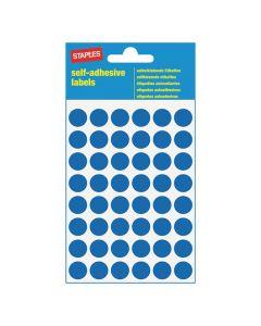 Etikett STAPLES 12mm blå 240/FP