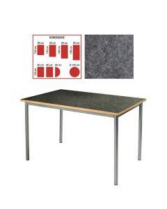 Tapiflexbord 80x120cm h 72cm antracitgrå