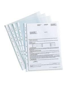 Plastficka STAPLES A4 0,09 präg 100/FP