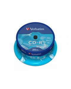 CD-R VERBATIM 700MB 25/FP