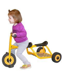 Trehjuling RABO med sittplats bak