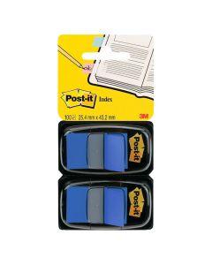 Index POST-IT dubbelpack 2x50 flik, blå
