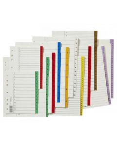 Register plastflik 1-20 brun 10/FP