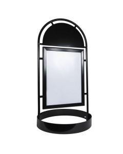 Gatuställ Gotic 50x70cm rundfot svart