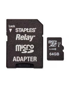 Minneskort STAPLES MicroSDHC/XC 64GB