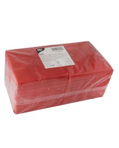 Servett 3-lags 24x24cm röd 250/FP
