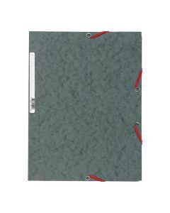 Gummibandsmapp EXACOMPTA 3-kl 400g grå