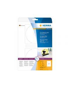 Etikett HERMA CD vit matt Ø116mm 50/FP