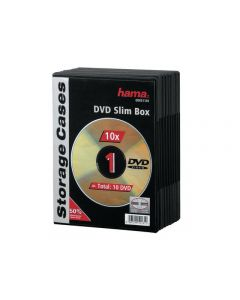 CD/DVD-Fodral HAMA Slim 10/FP