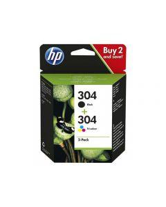 Bläckpatron HP 3JB05AE Svart+Färg 2/FP
