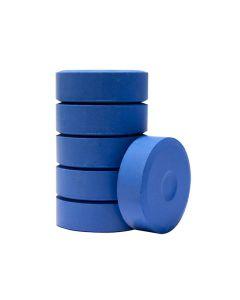 Färgblock 44mm blå / 6 st