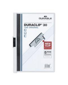 Klämmapp Duraclip 2200 A4 3mm vit