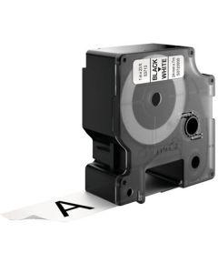 Tape D1 24mm Svart på Vit