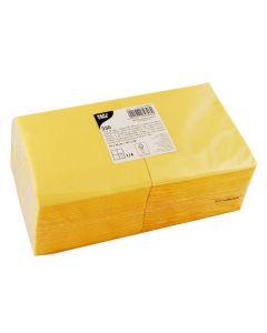 Servett 3-lags 24x24cm gul 250/FP