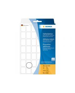 Etikett HERMA Allround 16x22mm vit 1344/FP
