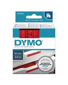 Tape DYMO D1 19mm Svart på Röd