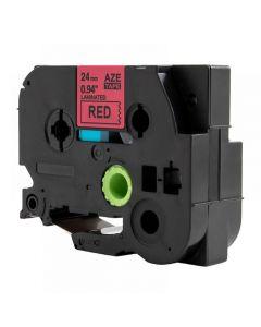Tape 24mm TZe-451 Svart på Röd
