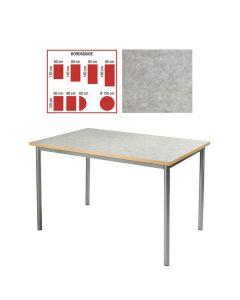 Tapiflexbord 80x160cm h 72cm ljgråmel.