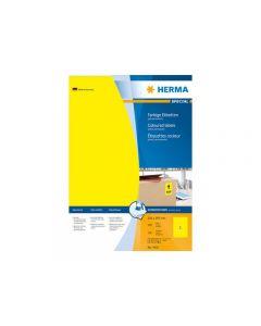 Etikett HERMA Färg gul 210x297mm 100/FP