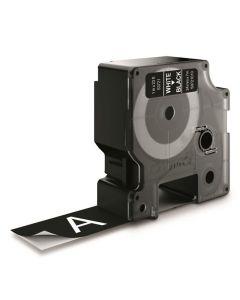 Tape D1 24mm Vit på Svart