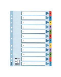 Register Mylar A4 1-12 multifärgat