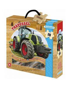 Träpussel Traktor 15 KÄRNAN bitar