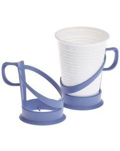 Grepp till plastbägare 18cl, 21cl blå
