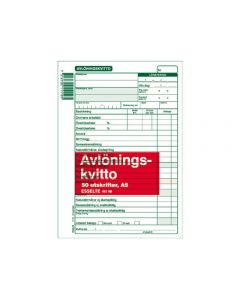 Blankett avlöningskvitto A5, 50blad
