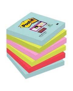Notes POST-IT SuperSt Miami 76x76mm 6/FP