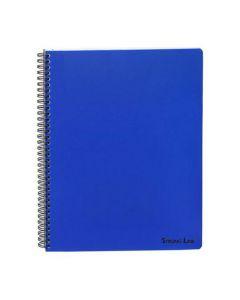 Kollegieblock BANTEX A4 PP blå