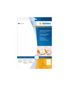 Etikett HERMA Transpgloss 210x297mm 10/FP