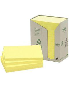 Notes POST-IT 100% recyc 127x76mm Gul 16/FP