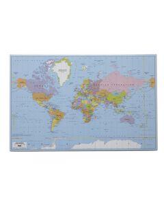 Skrivunderlägg Världskartan 59x39cm