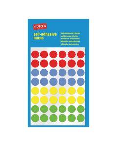 Etikett STAPLES 12mm sort.färger 288/FP