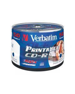 CD-R VERBATIM 700MB Printable 50/FP