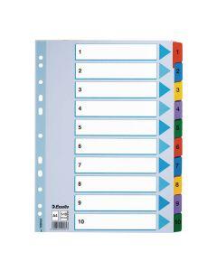 Register Mylar A4 1-10 multifärgat