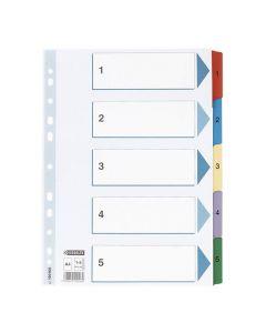 Register Mylar A4 1-5 multifärgat