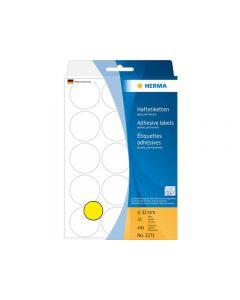 Etikett HERMA Allround 32mm gul 480/FP