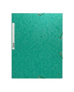 Gummibandsmapp Scotten A4 3-klaff grön