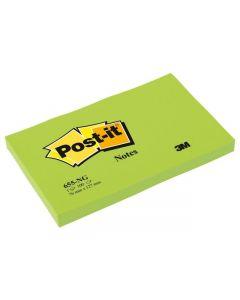 Notes POST-IT neon 76x127mm grön