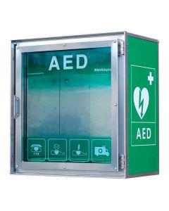 Utomhusskåp för AED rostfritt stål