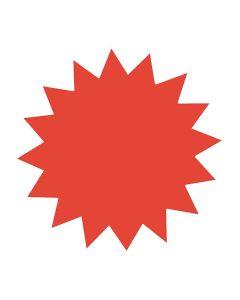 Textkartong stjärna röd 180mm 25/FP
