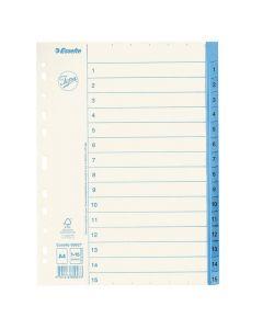 Pappersregister JOPA A4 1-15 vit/blå