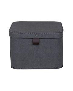 Förvaringsbox m.lock kartong svart 2/FP