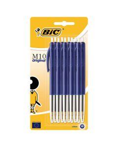 Kulpenna BIC Clic M10 1,0 blå blis 10/FP