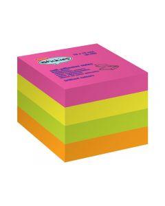 Notes kub STAPLES 76x76 mm rainbow 400bl