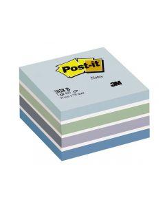 Notes POST-IT Kub 76x76mm blå/vit