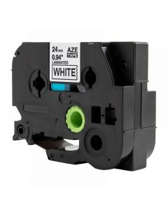 Tape 24mm TZe-251 Svart på Vit