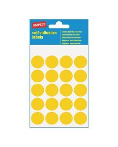 Etikett STAPLES 19mm gul 100/FP