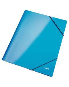 Gummibandsmapp LEITZ WOW 3-kl A4 blå
